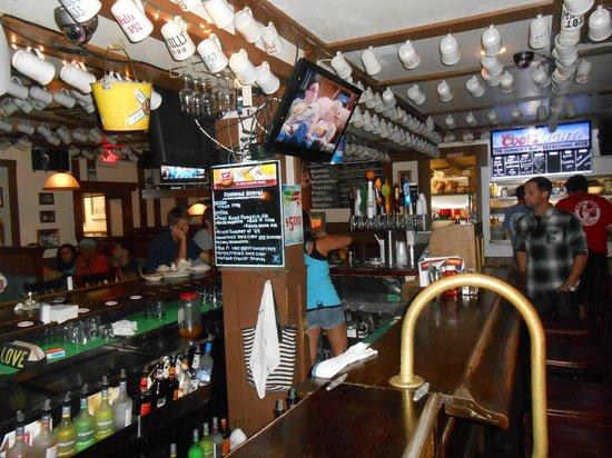 The Bar inside the Ugly Mug