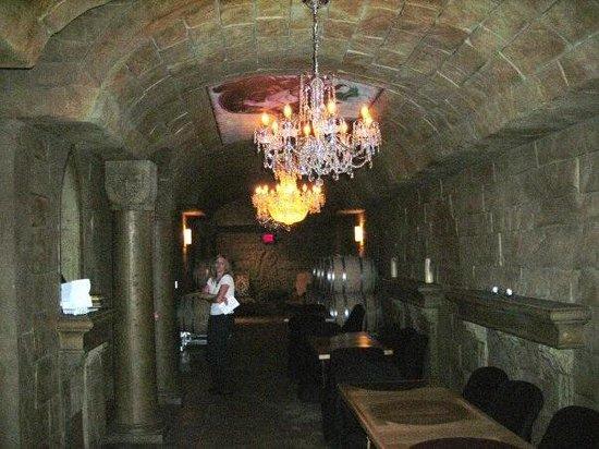 Reustle Prayer Rock Vineyards: Outside the tasting room in the cave.