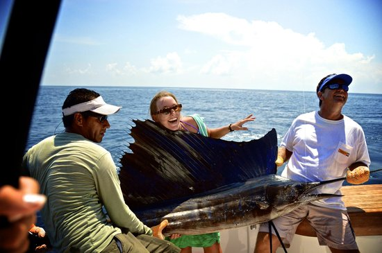 Casa del Sur Fishing: Ann Burton with her first EVER Sailfish!