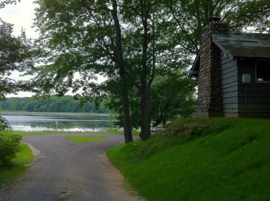 Fair Haven State Park Campground: Cabin and pond view