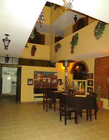La Posada del Conde: Inner Terrace outside of Restaurant