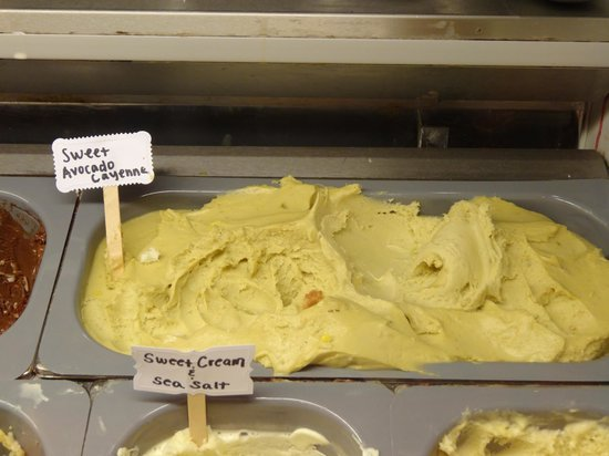 Rococo Artisan Ice Cream: Avocado Chili Ice Cream - not as shocking as you'd think