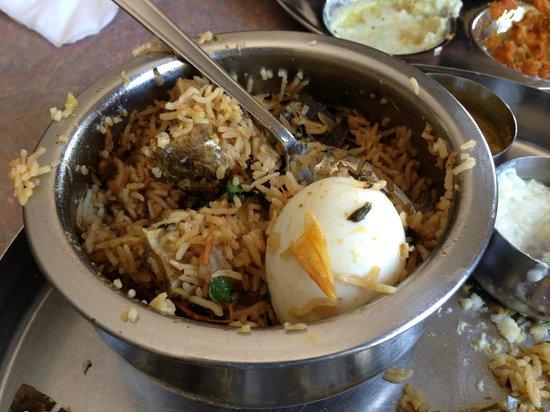 Anjappar Chettinad Restaurant: Mutton Biriyani
