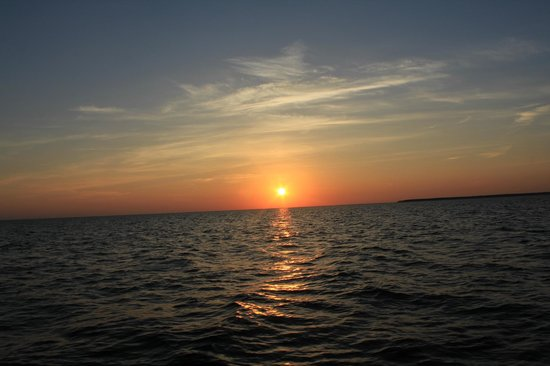 Fish Creek Scenic Boat Tours : Sunset view from the evening boat tour