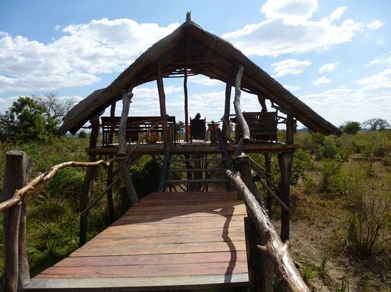 Liwonde Safari Camp: Viewing platform 1