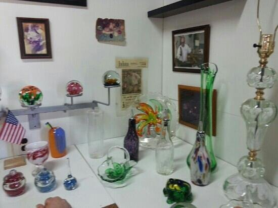 Zimmerman Art Glass Business: A small selection of glass wares.