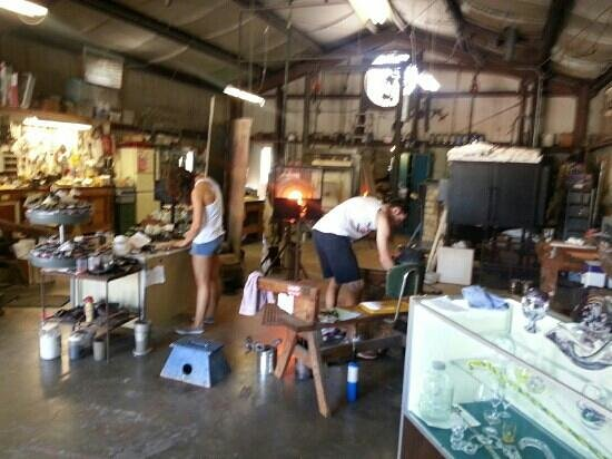 Zimmerman Art Glass Business: Two crafters at work