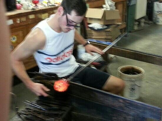 Zimmerman Art Glass Business: A little blurry, but a paperweight in the making