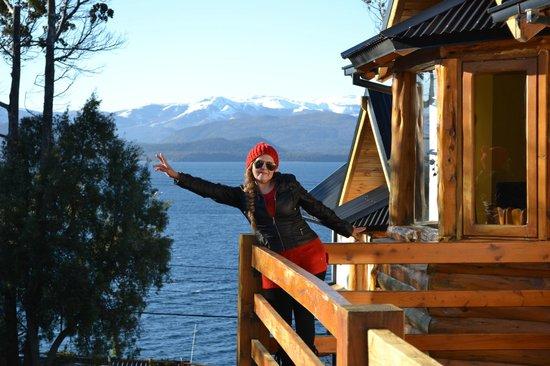 Cabañas Don Justo: Vista desde el balcóm