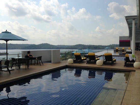 View From Swimming Pool Area Picture Of Hotel Jen Puteri Harbour