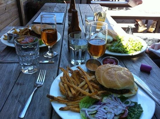 Atwood's Tavern: various burgers and fries!