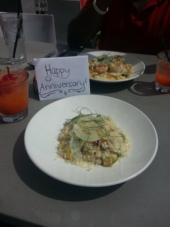 Tower23 Hotel: our Anniversary lunch :)  Awesome!