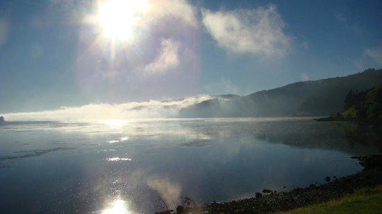 Port Waikato Holiday Park: Waikato River one frosty morning