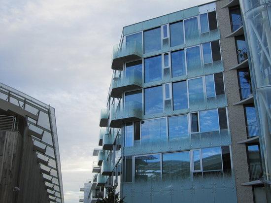 Aker Brygge: vista de la edificacion