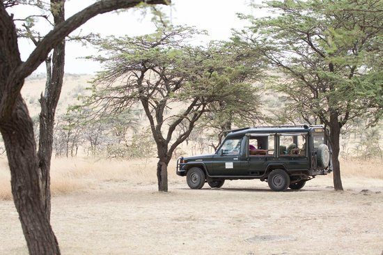 Kicheche Bush Camp: Waiting for collection of guests