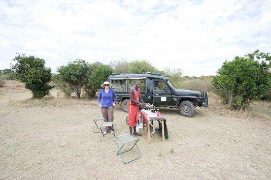 Kicheche Bush Camp: Breakfast time