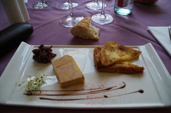 Bienvenue chez nous : foie gras et son pain perdu...un regal!!
