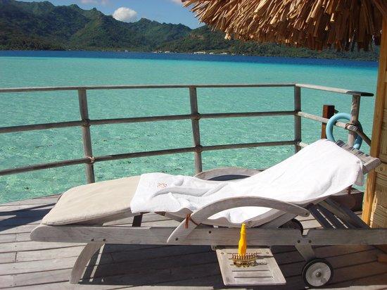 Le Taha'a Island Resort & Spa : Vue de notre terrasse