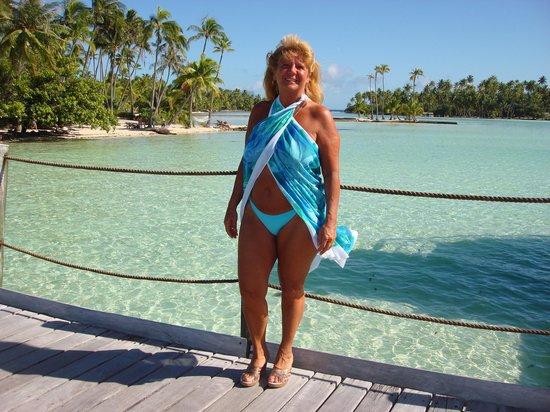 Le Taha'a Island Resort & Spa : Vue sur le jardin de corail