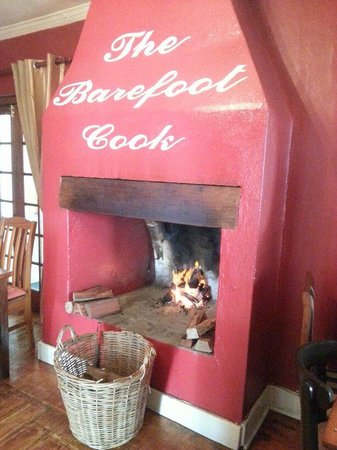 The Barefoot Cook: A warm and inviting fire place awaits you in winter