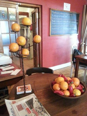 Creative fruit display at The Barefoot Cook