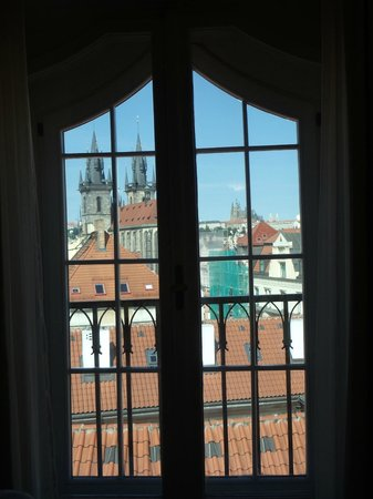 Grand Hotel Bohemia: window facing castle