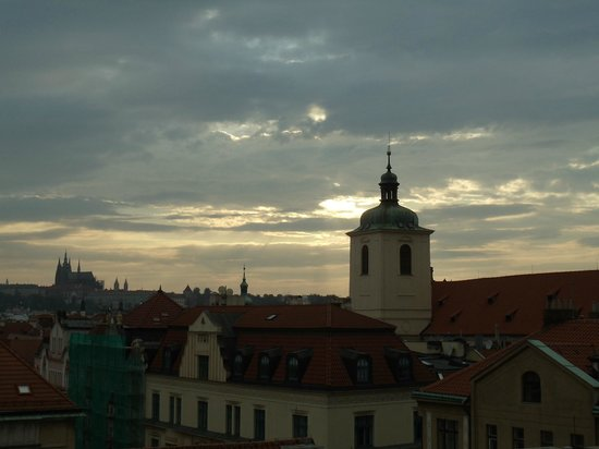 Grand Hotel Bohemia: sunset from terrace