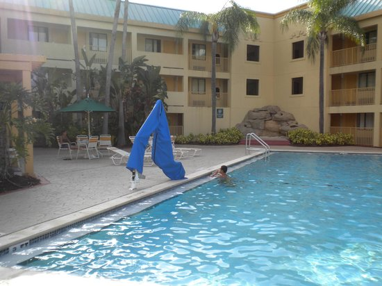 La Quinta Inn Tampa Near Busch Gardens: la piscine trop proche de la route