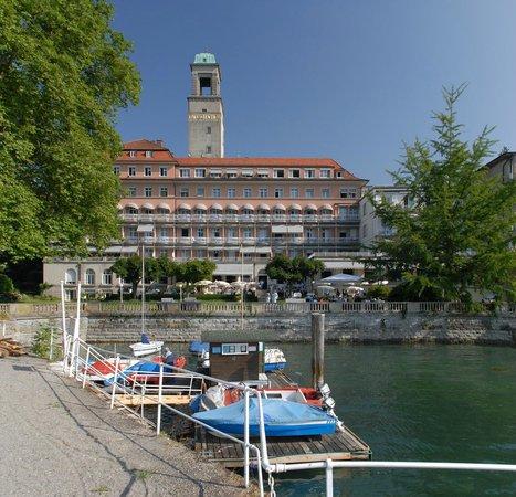 Hotel Bad Schachen : Ansicht von Schiffsanlegestelle