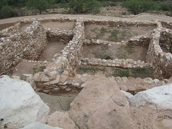 Tuzigoot National Monument : Lower level rooms