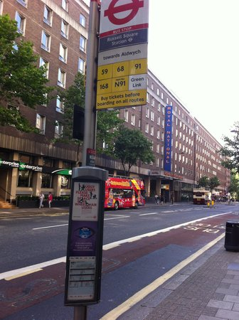 Royal National Hotel: Bus stop is just at the enhance of the hotel