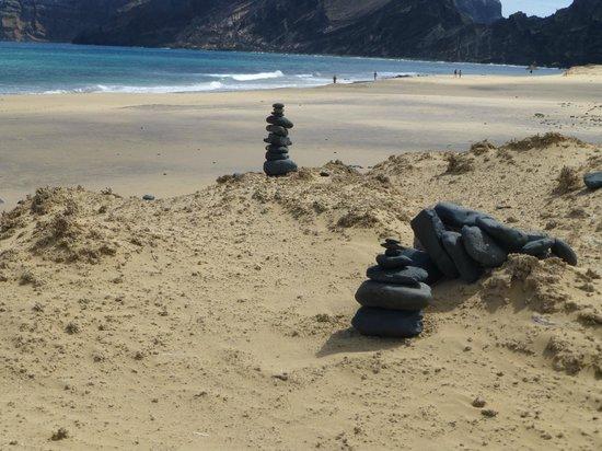 Praia do Porto Santo: Pierres de lave