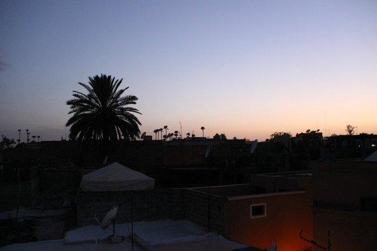 Riad Alena : vue de la terasse