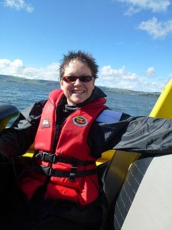 Kawarau Jet Rotorua: Getting wet back seat!