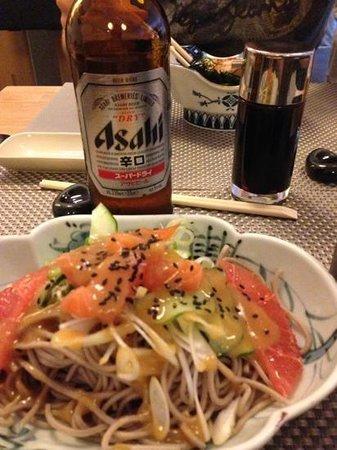 Yuzu Sushi Bar: salade du menu