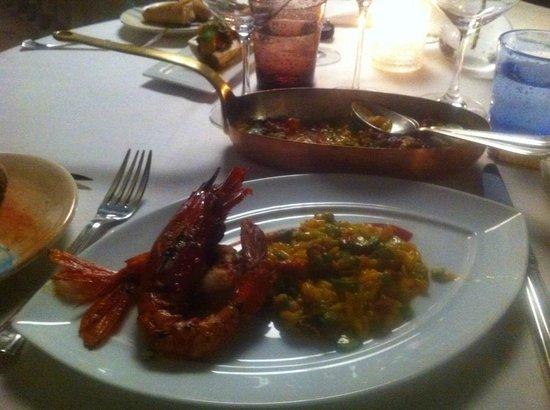 Restaurant La Passagère : Gambas carabineros et paëlla de puntalette