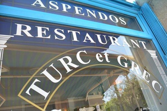 Restaurant Aspendos : devanture