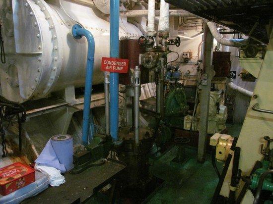Steamship Shieldhall: engine room of Shieldhall
