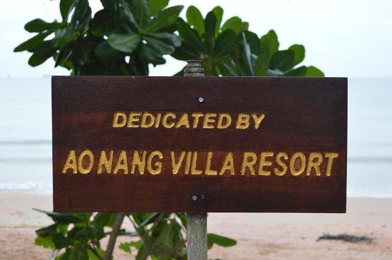 Aonang Villa Resort : Plage