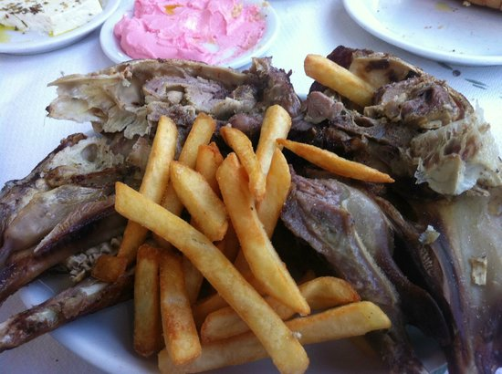 Stamatopoulos Tavern : Lamb and Olive Oil French Fries