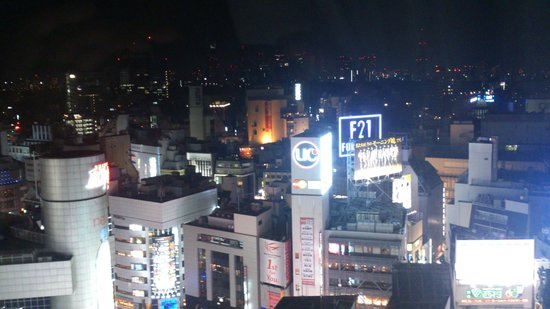 Shibuya Excel Hotel Tokyu: view from my room