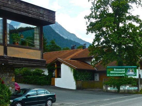 The Postkeller restaurant... Brauerei Mittenwald