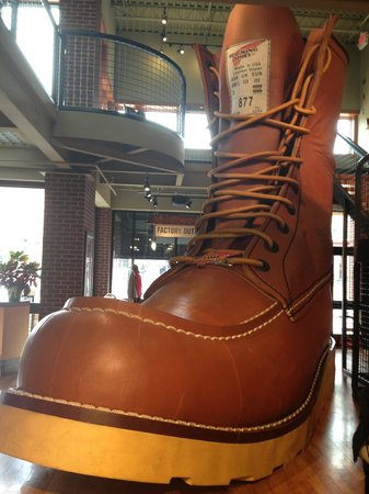 Red Wing Shoe Store & Museum: Shoe Display at the Entrace