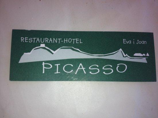 Restaurant Hotel Picasso: Tarjeta del Picasso