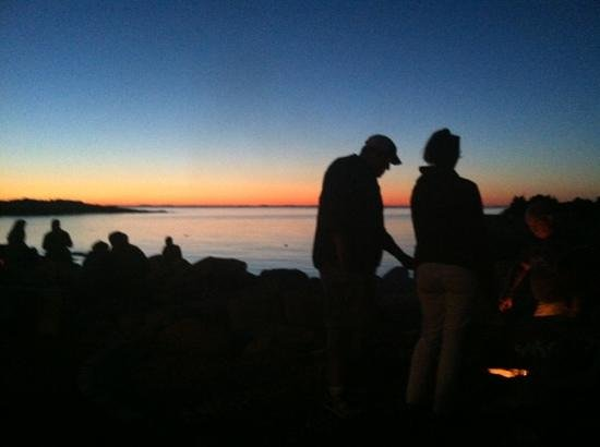 The Lobster Pool: smores and sunset