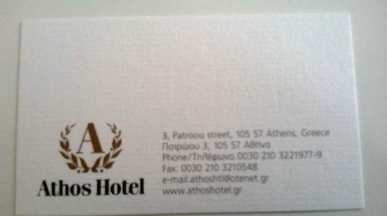 Athos Hotel: Carte