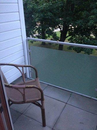 Parkhotel Am Posthof: Kleiner Balkon zum Park.