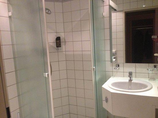 Parkhotel Am Posthof: Badezimmer, einfach und gut.
