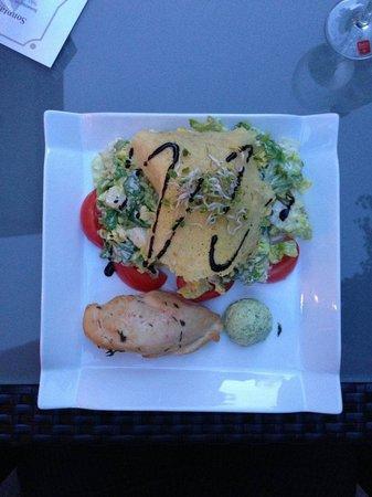 Parkhotel Am Posthof: Salat mit Parmesankruste.