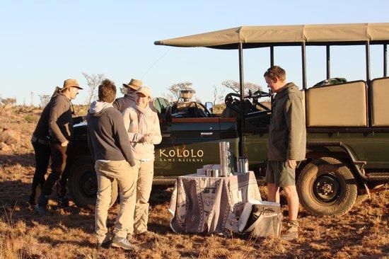 Kololo Game Reserve: Start van de bushwalk